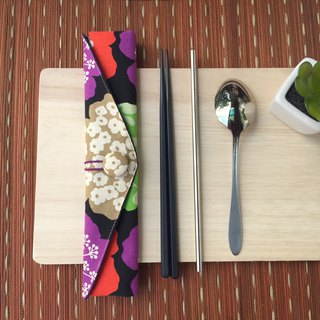 Adoubao-Chopsticks set package - black & wind big flower (壹)
