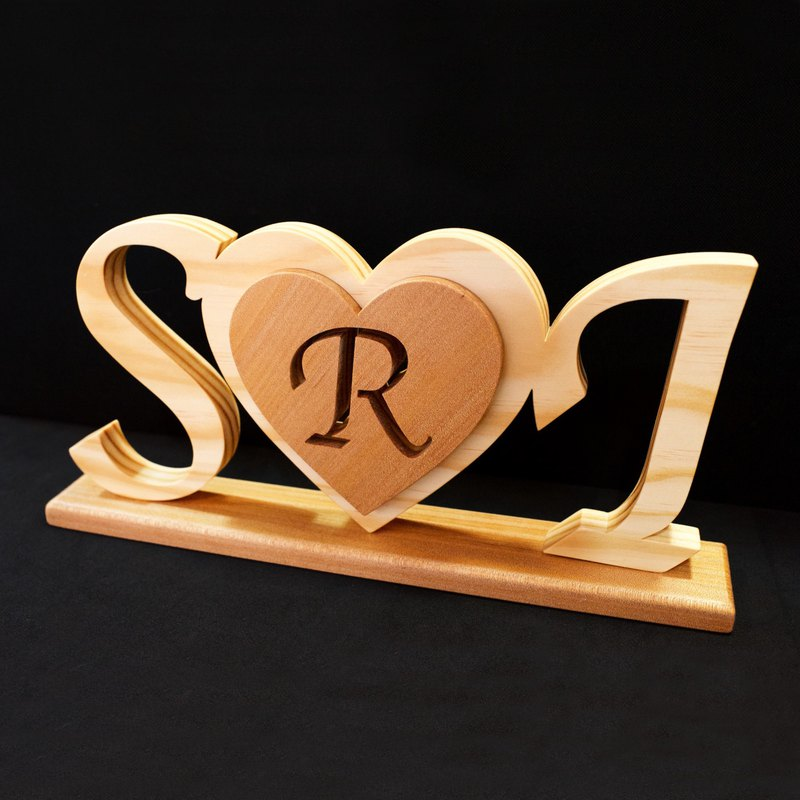 Customized handmade wooden signboard
