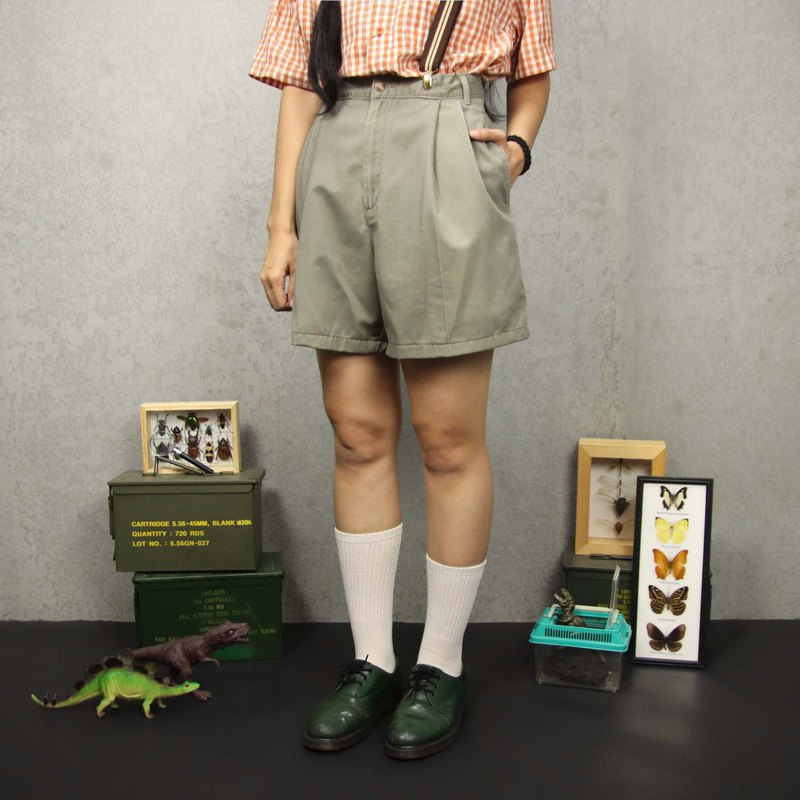 Tsubasa.Y ancient house A18 brown 28 waist vintage shorts, casual outdoor summer