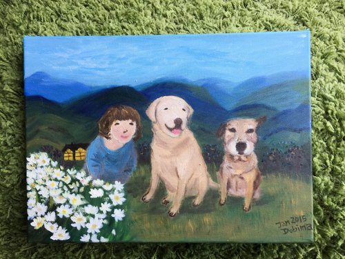 Picture frame: [] custom pet paintings
