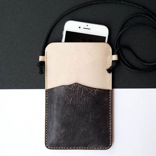 ◄ ► Mountain zero context // phone backpack - handmade Italian leather Limited