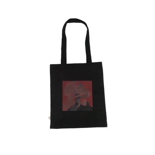 Black frame hand Tote bag