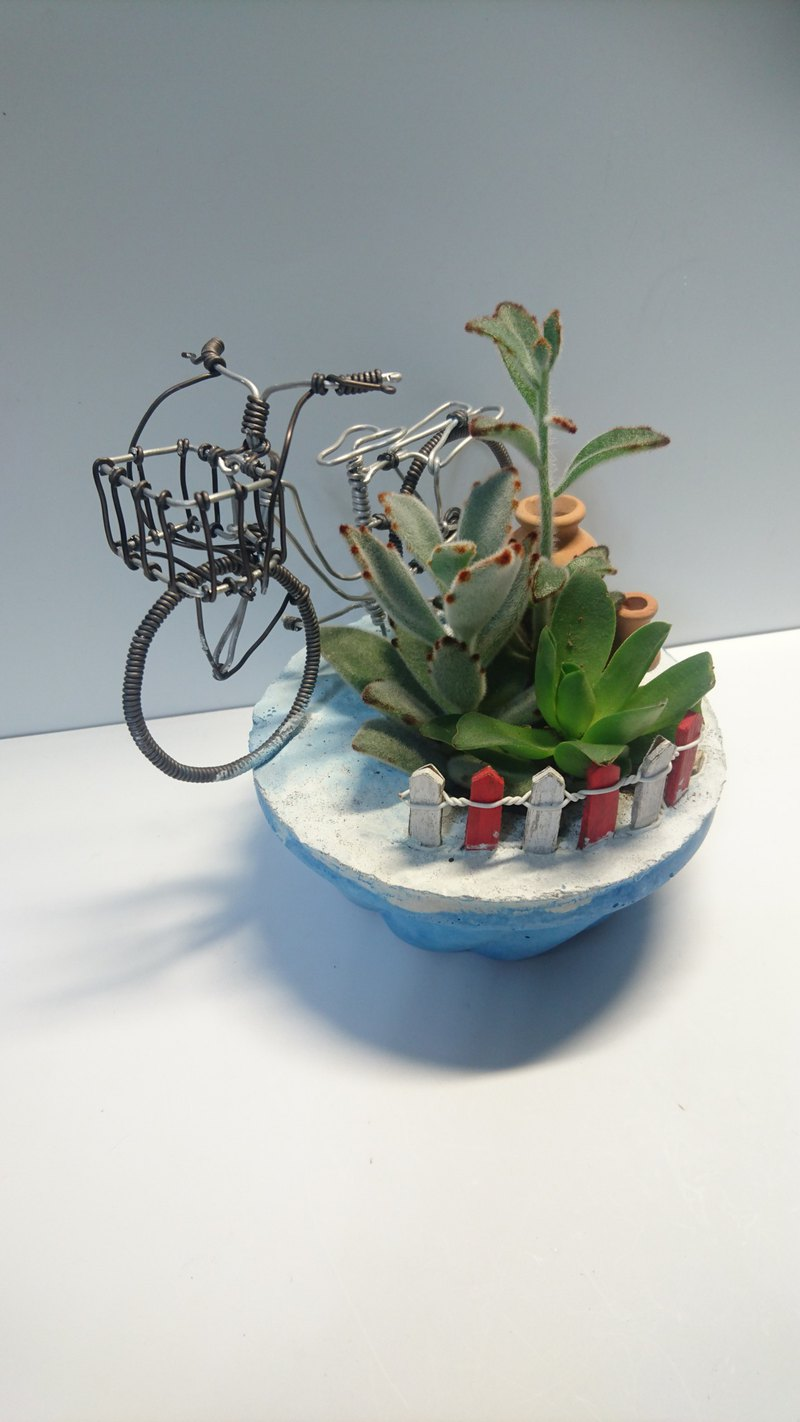 Aluminum wire bicycle - multi-plant combination