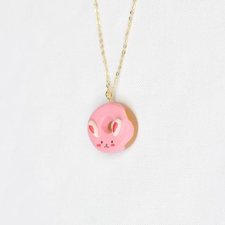 Handmade bunny donut necklace