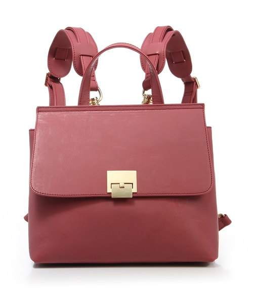 MIN Vintage Leather Ladylike Frame Handbag Multi-functions