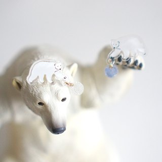 [Unicorn Forest] Earth Treasures of the polar bear a pair of earrings / ear clip