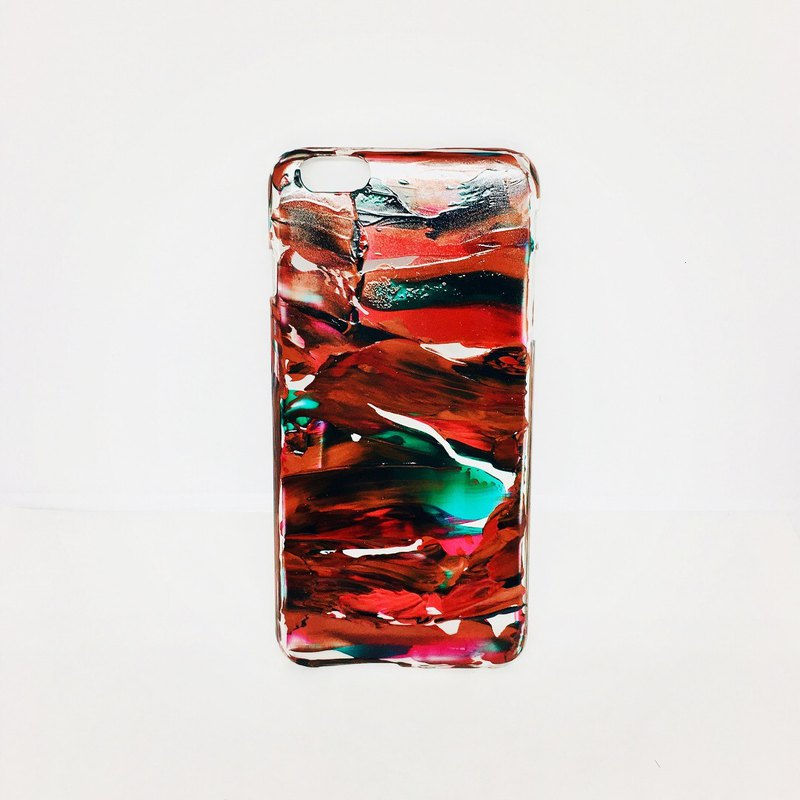 Acrylic Hand Paint Phone Case | iPhone 6/6s+ |  Reddish