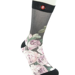 Hong Kong Design | Fool's Day Printed Socks -Pink Rose 00029
