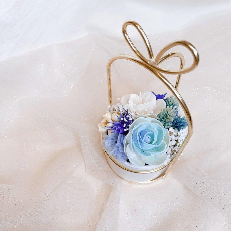 幾何金邊擴香盆花 | 乾燥花 永生花 聖誕節 生日禮物 交換禮物