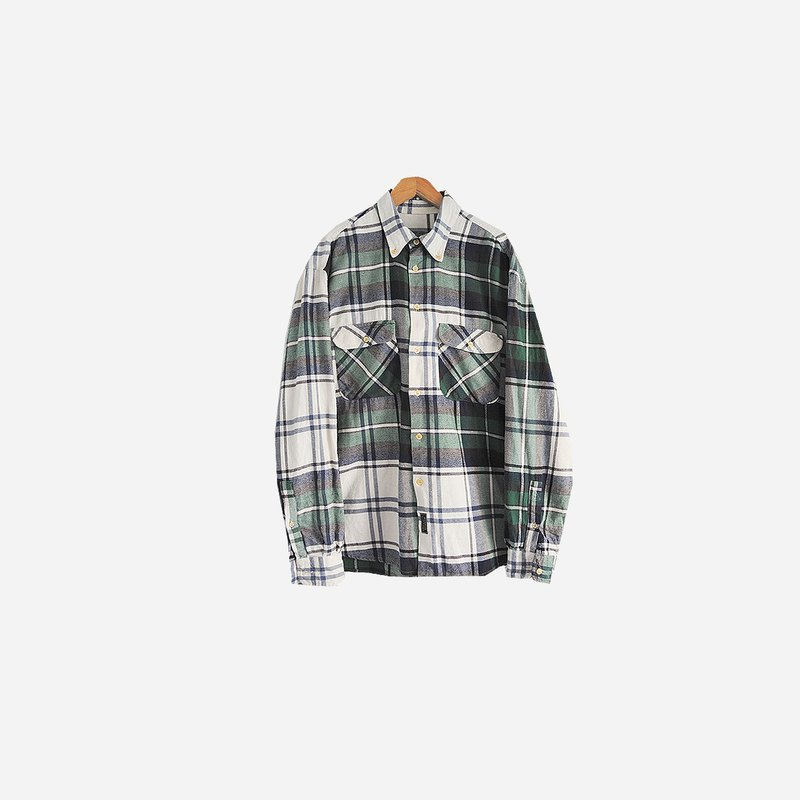 Dislocation ancient vintage / cotton plaid shirt no.553 vintage