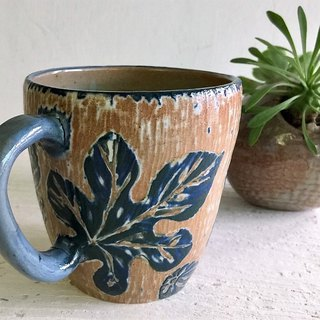 Fig writing _ pottery mug