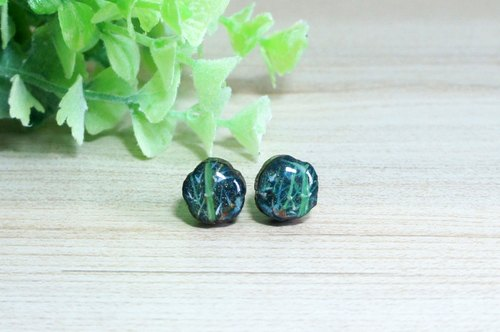 Hand painted bamboo forest (bamboo) wood earrings