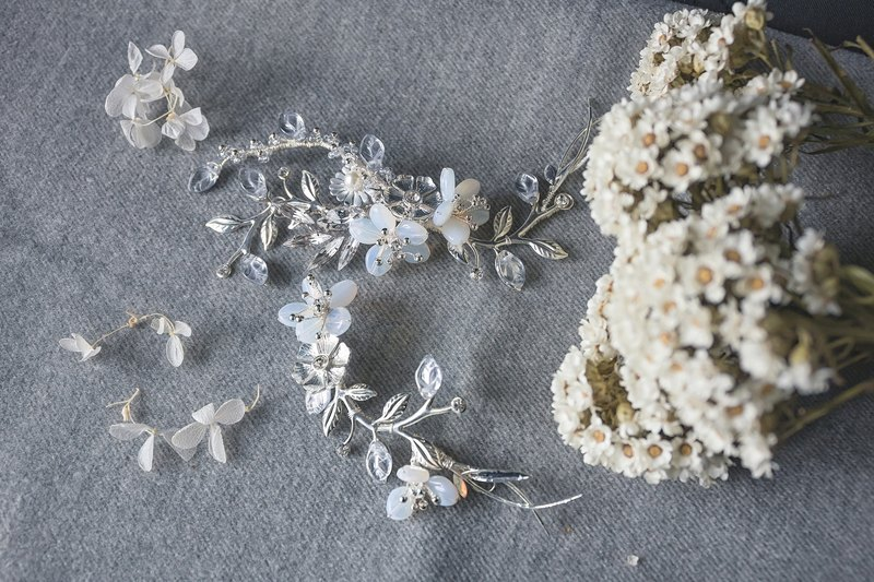 Bloom series handmade bridal hair accessories wedding jewelry