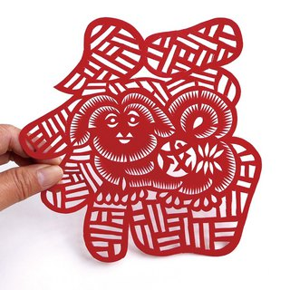 Fuku dog paper cutting go25