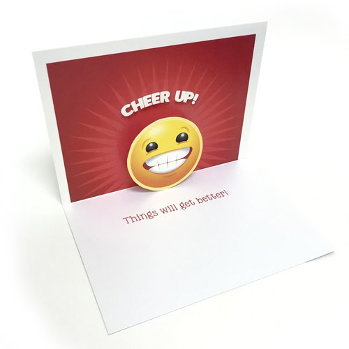 Cheer Up Card | Smile Pop Up Card | Happy Card | Pop Up Card