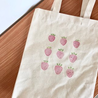 Hand-drawn bag(Strawberry)