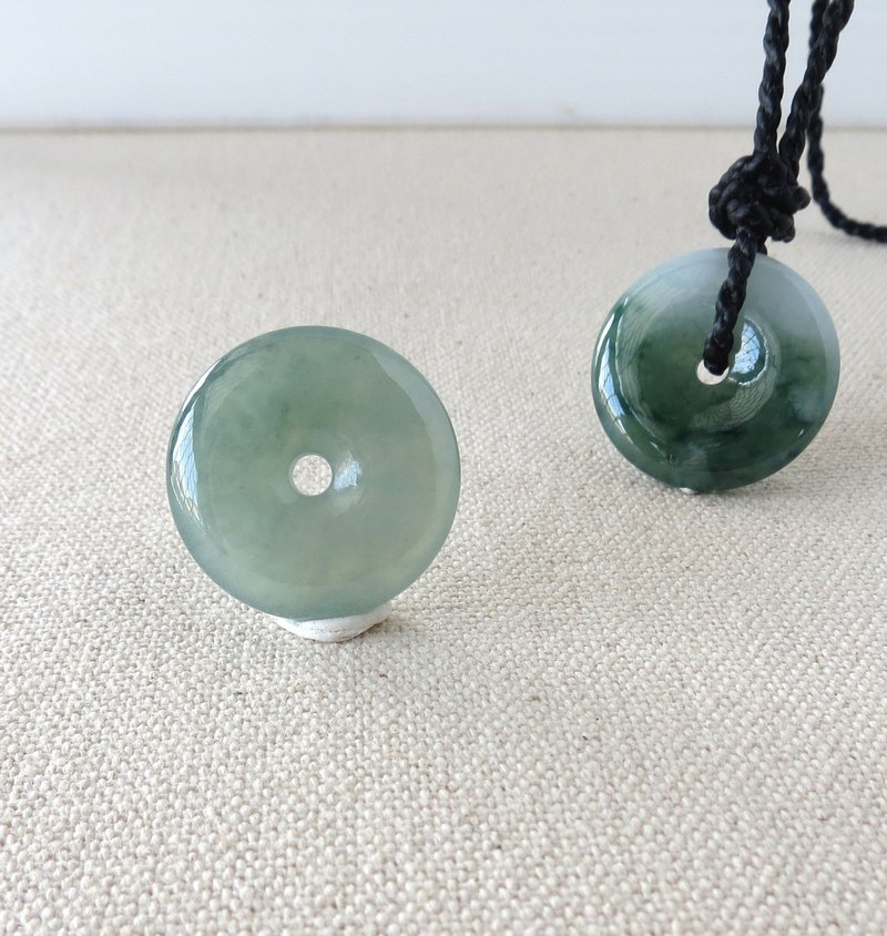 The birth year [safety, wishful] ice type safe buckle emerald silk wax line necklace [BM01] four shares