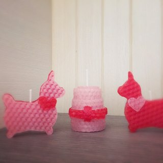 Rody pony / pink cake handmade bee candle (single-entry including gift box)