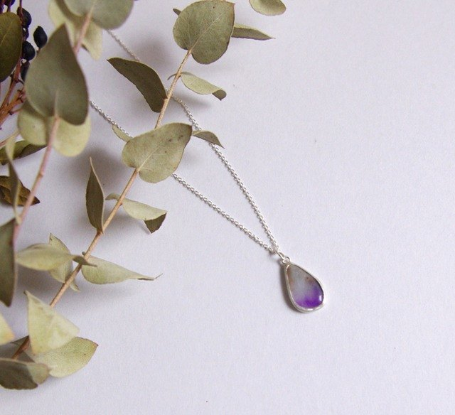 Sugilite of Silver necklace GEMS (Gems)
