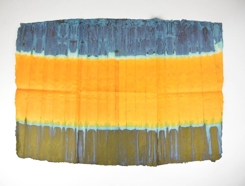 Handmade paper - summer sun _ fair trade