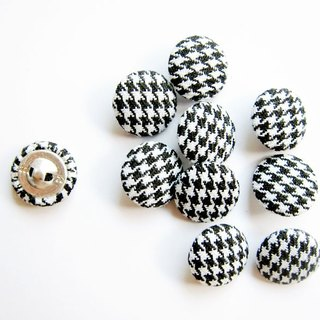 Sewing knitting cloth buckle handmade material Houndstooth Button