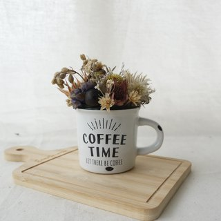 [Coffee Time] Distressed Ceramic Dry Table Flower Decoration