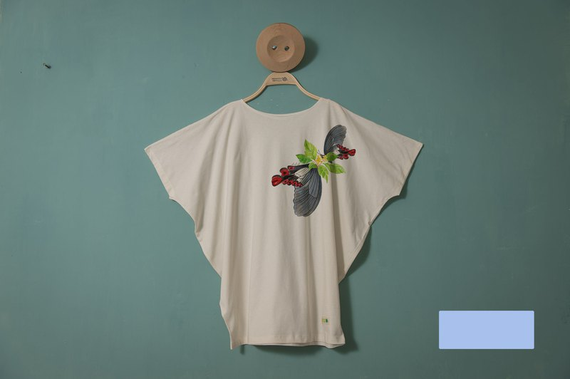 ~Wide-tailed Swallowtail~Flying squirrel version//Unique hand-painted style, no bumping shirt, cotton material, comfortable and breathable