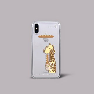 Mr. Giraffe TPU soft transparent frame phone case (iPhoneX) CTIPHX-MG-13