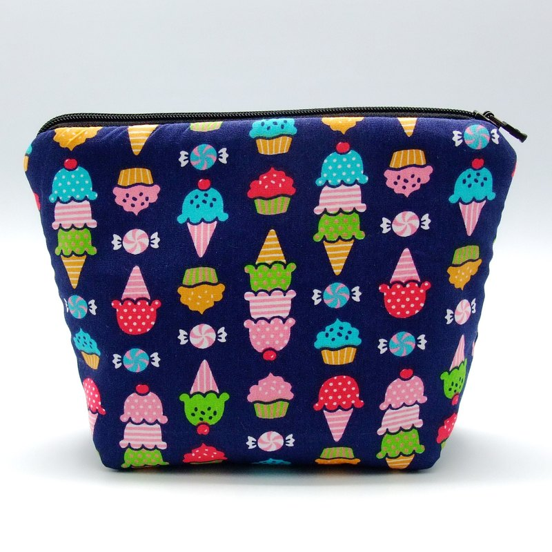 Large flat bottom zipper pouch /cosmetic bag (padded) (ZL-38)