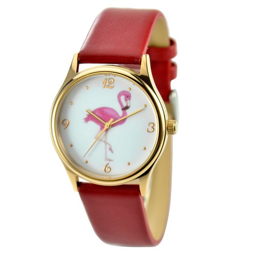 Flamingo Watch Red Band Unisex Free Shipping Worldwide