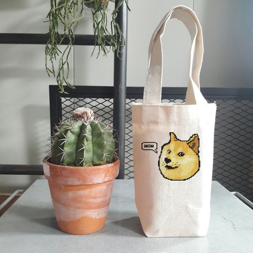 Shibe Doge WOW little cotton bag
