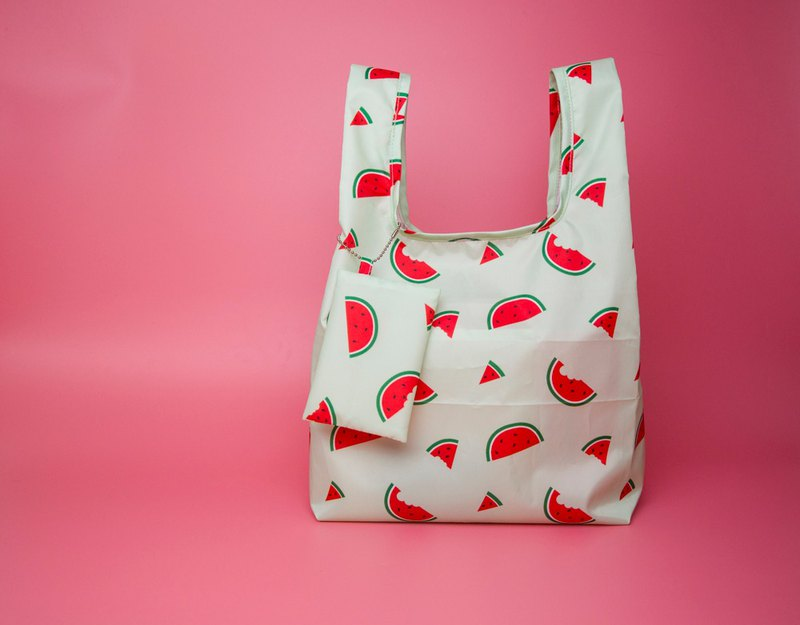Sweet watermelon waterproof shopping bag / side backpack / beverage bag / picnic bag