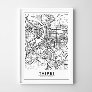 CITY MAP ART Customizable Painting Poster