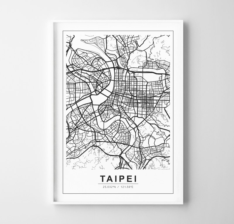 CITY map PRINT can be customized custom bedroom bathroom restaurant cafe