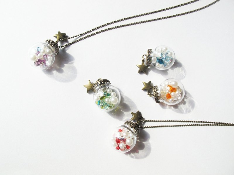 *Rosy Garden*My Colourful jewelry box glass ball necklace