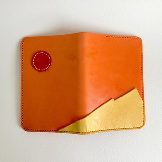 Full hand passport folder _ leather hand sewing handcraft bright passport holder