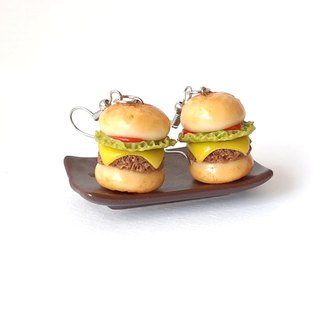 Hamburger earringg