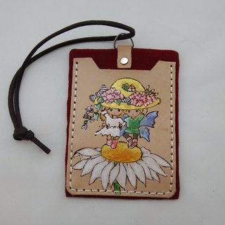 Leather documents swim card sets - sunflower children