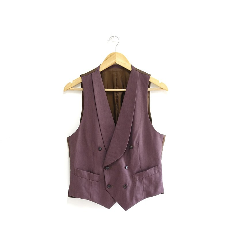 │Slowly│Double-breasted - vintage vest │vintage. Retro. Literature. Made in Japan