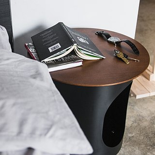 METALION Full Metal Side Table - Basalt Black (with long hair trim mat)