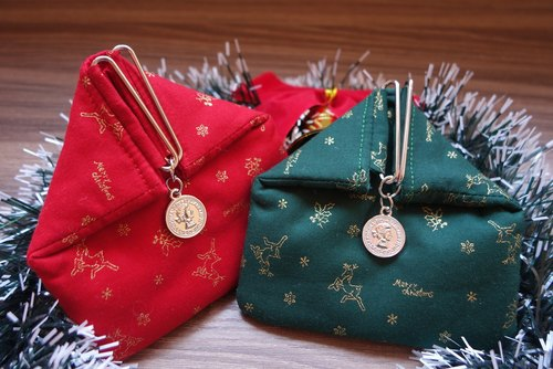 Carpenter hand swing Christmas elk small house handmade purse mouth gold package loose wrap