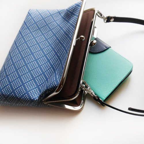 Small canteen two shoulder bag shoulder bag / phone bag / mouth gold package [Made in Taiwan]