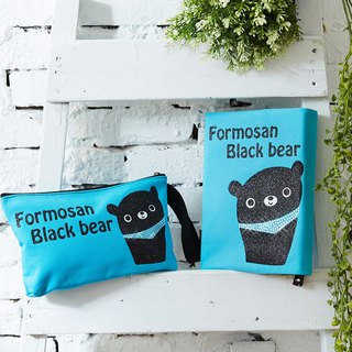 Adorkable series fabric book cover&makeup bag-Formosan Black bear