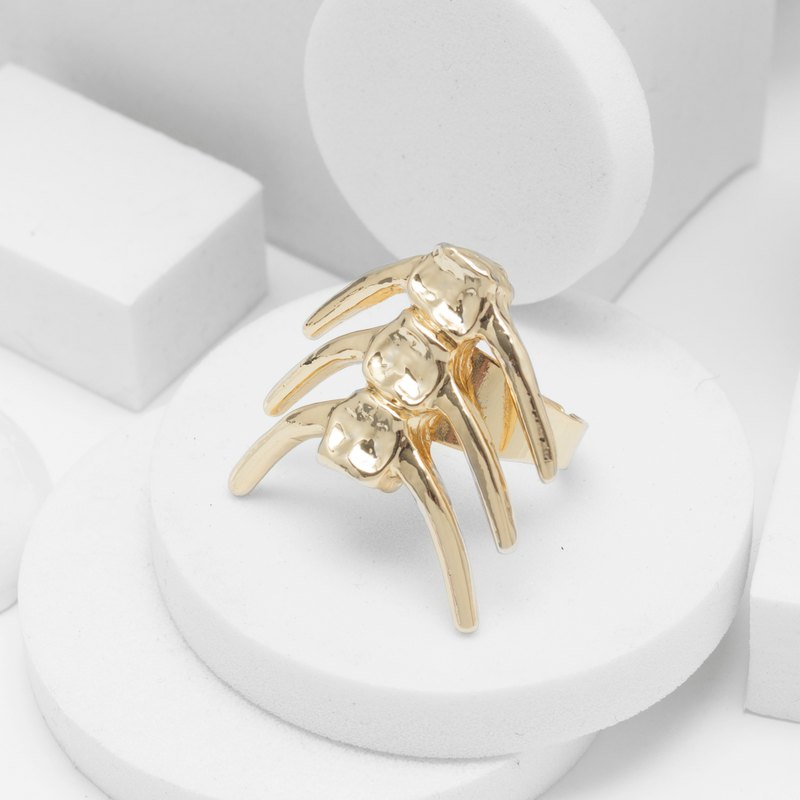 Fish bone ring (gold)