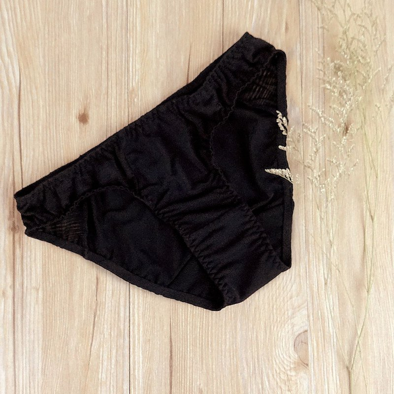 Low waist pants - classic black natural my underwear