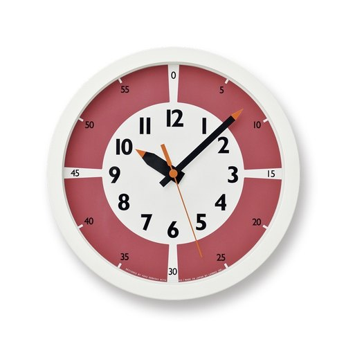 YD15-01 RE Color Division Study Clock - Red