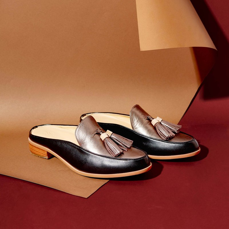 BRONZE-Willow - Mule Loafers