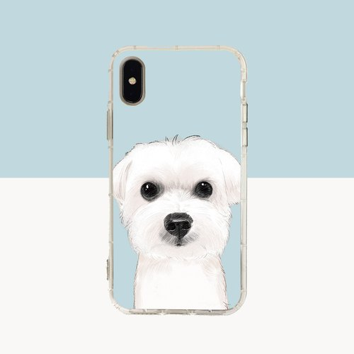 Large face Maltese relief air shell-iPhone (i5, i6s, i6splus, i7.i7plus, i8.i8plus, ix) / OPPO. Samsung .ASUS.HTC