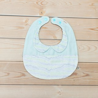 Hillside round collar egg pocket bibs saliva towel six layers of yarn