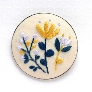 Yellow bouquet  - Embroidery Brooch Kit
